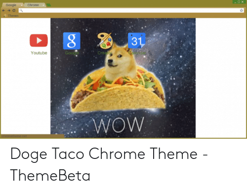 OX Google Chrome Themes 8 31 Google Creato Youtube WOW