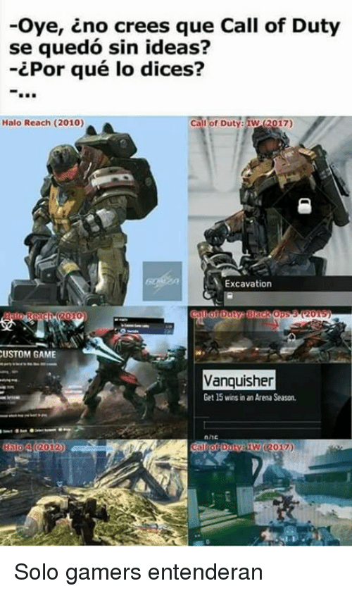 oye cno crees que call of dut se quedo sin 6012526 ✅ 25 best memes about halo reach halo reach memes