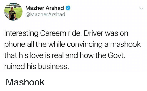 P' Mazher Arshad+ Interesting Careem Ride Driver Was on
