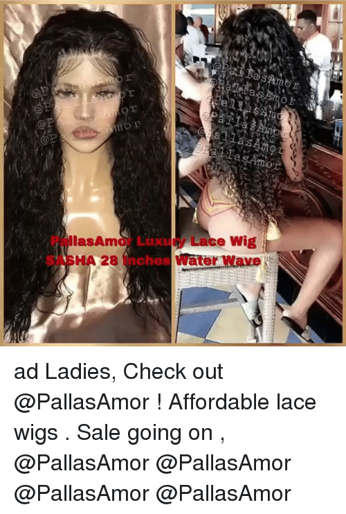 Pallasamor Luxury Lace Wig Sasha 28 Inches Water Wave Ad Ladies