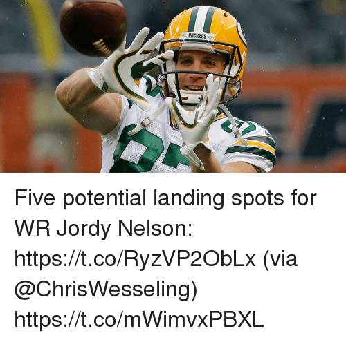 Memes, Jordy Nelson, and Packers: PACKERS Five potential landing spots for WR Jordy Nelson: https://t.co/RyzVP2ObLx (via @ChrisWesseling) https://t.co/mWimvxPBXL
