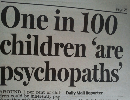 Children, Daily Mail, and Mail: Page 25  One in 100  children 'are  psychopaths  AROUND 1 per cent of chil- Daily Mail Reporter  ren could be inherently psy-