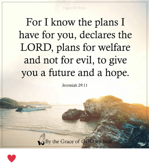 Pages Of Ho For I Know The Plans I Have For You Declares The Lord