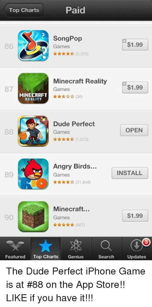 Paid Top Charts Song Pop $199 86 Games R 3355 Minecraft