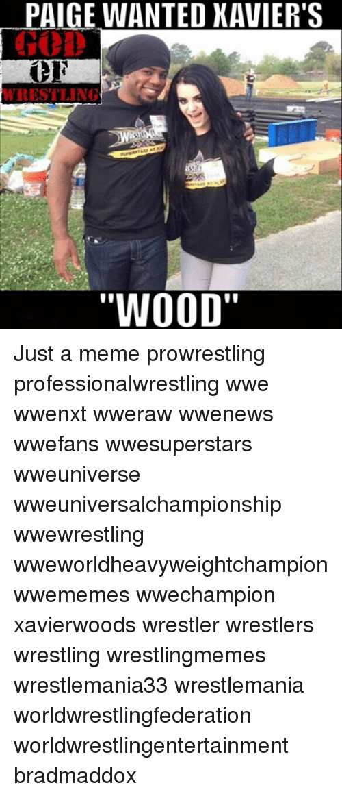Paige Wanted Xaviers Wrestling Wood Just A Meme Prowrestling