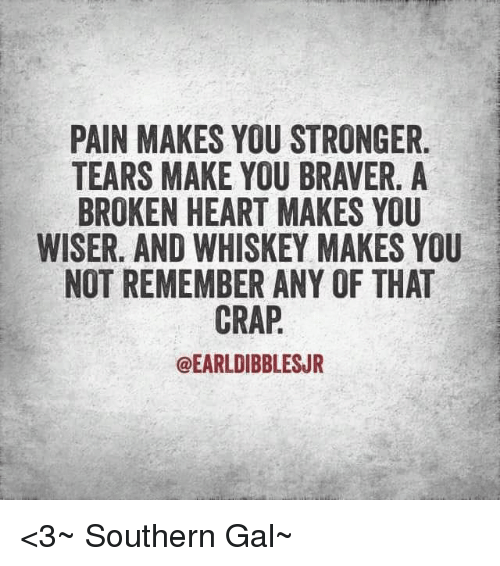 Pain Makes You Stronger Tears Make You Braver A Broken Heart Makes