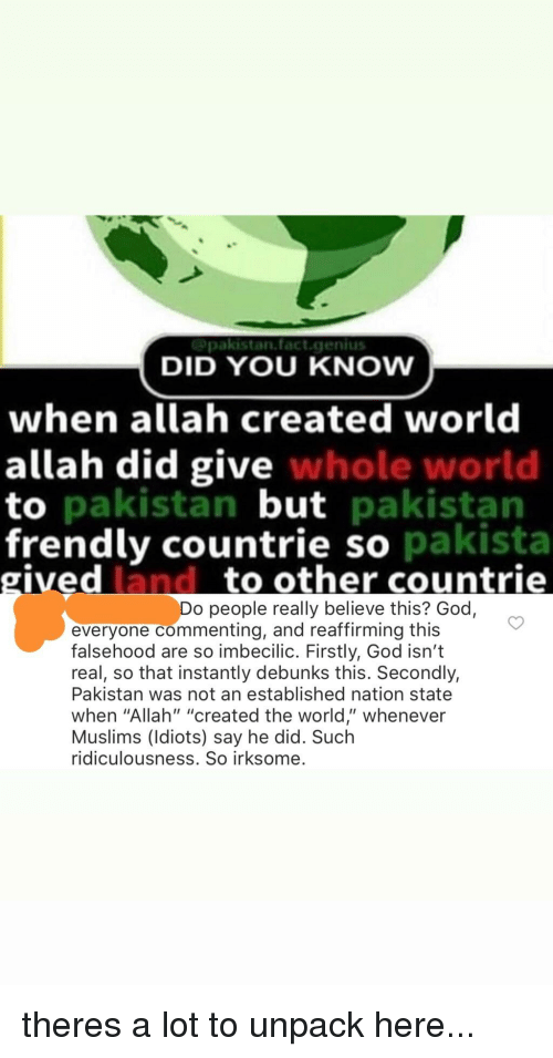 DID YOU KNOW When Allah Created World Allah Did Give Whole