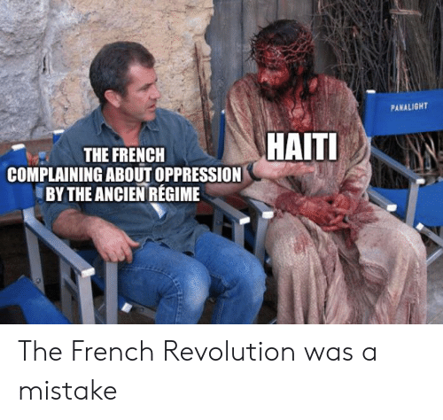 Haiti, History, and Revolution: PANALIGHT  HAITI  THE FRENCH  COMPLAINING ABOUT OPPRESSION  BY THE ANCIEN REGIME The French Revolution was a mistake