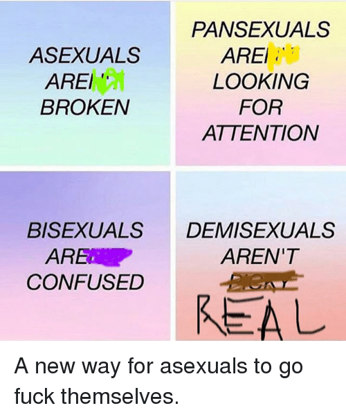 Asexuals arent real