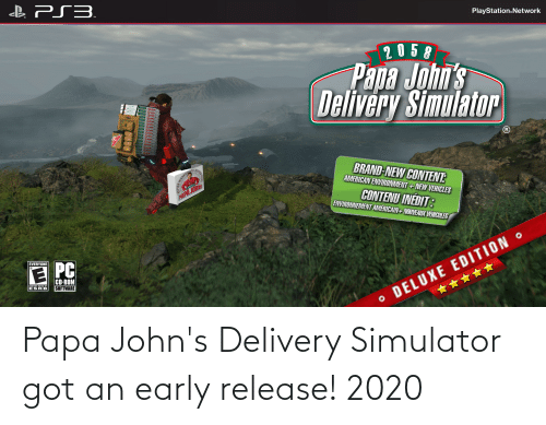 Funny, Papa Johns, and Got: Papa John's Delivery Simulator got an early release! 2020