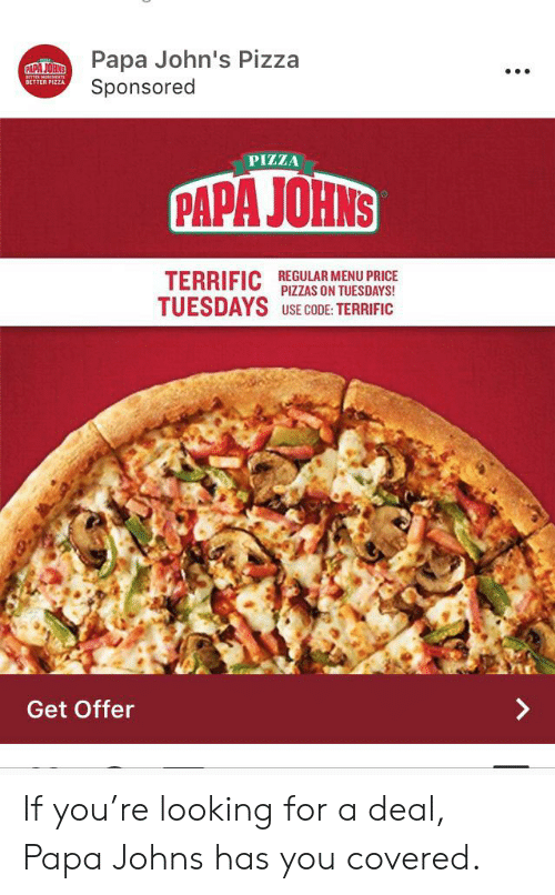 Papa John S Pizza Sponsored Papa Johns Eate Bette Better