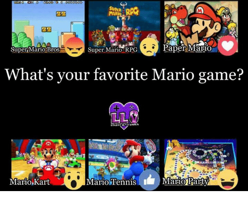 paper mario super mario rpg super mario bros what s your favorite