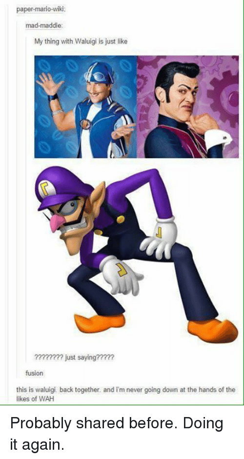 Paper Mario Wiki Mad Maddie My Thing With Waluigi Is Just Like Just