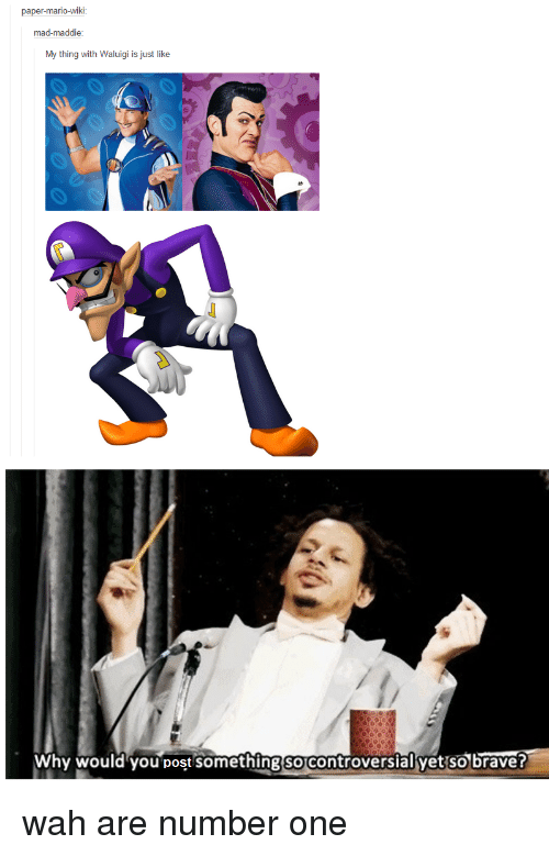 Paper Mario Wiki Mad Maddie My Thing With Waluigi Is Just Like Why