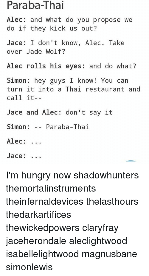 Para Ba Thai Alec And What Do You Propose We Do If They Kick Us Out