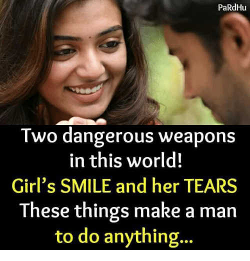 Pardhu Two Dangerous Weapons In This World Girls Smile And Her