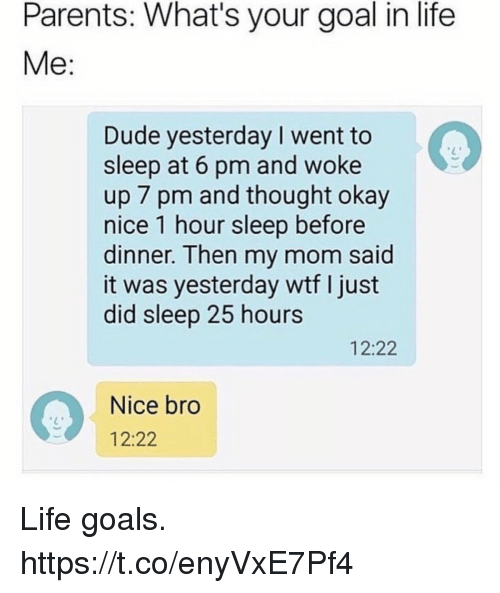 what are your goals in life