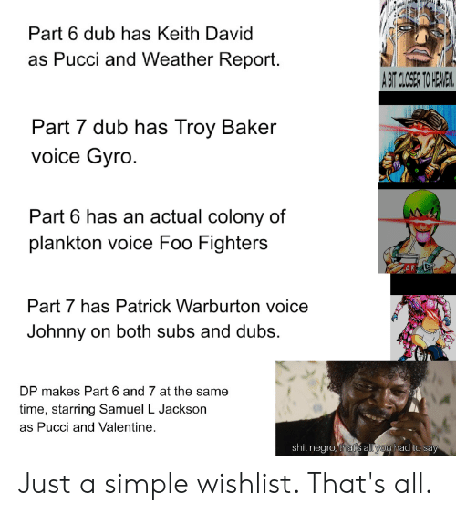 Part 6 Dub Has Keith David as Pucci and Weather Report a