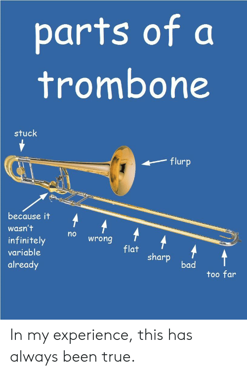 Parts of a Trombone Stuck Flurp Because It Wasn't No Wrong