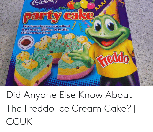 Party Cake Triple Layered Ice Cream Cake With Real Teeny Freddoo Cidburgo Dafiry Milko Milk Chocolate Pieces Ppert Toppais Freddo Tm Milk Did Anyone Else Know About The Freddo Ice Cream Cake