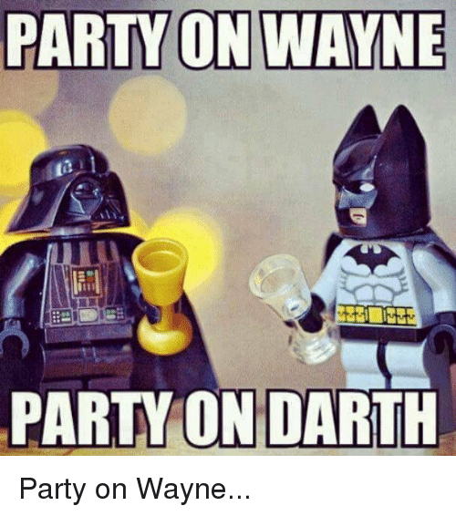 Funny, Party, and Party on Wayne Party on Darth: PARTY ON WAYNE PARTY