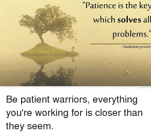 Delightful Memes, Patience, And Patient:  Good Ideas