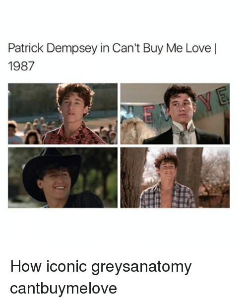 Patrick Dempsey In Cant Buy Me Love 1987 How Iconic Greysanatomy