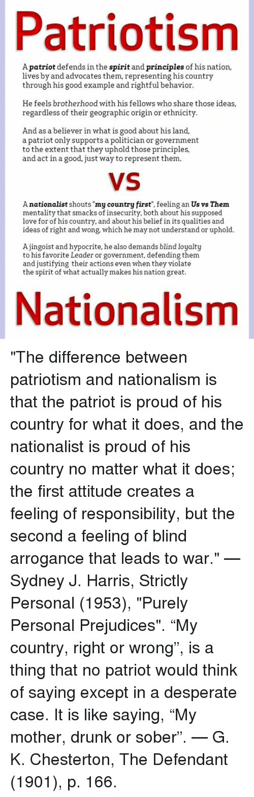 differences between nationalism and patriotism which is The difference is you are born into being a citizen but, in reality you are not born into patriotism patriotism is a love for your country and its beliefs, citizenship means you are given rights to a country.