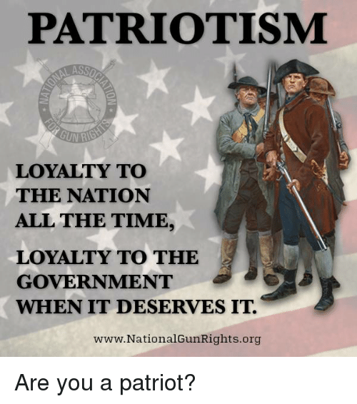 patriotism and loyalty In this context, the term patriotism usually denotes a specific loyalty virtue,  consequent upon membership of a country or state however, the term loyalty  alone.