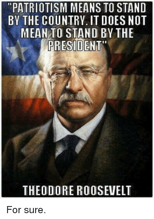 patriotism means to stand by the country it does not 10196133 ✅ 25 best memes about theodore roosevelt theodore roosevelt memes