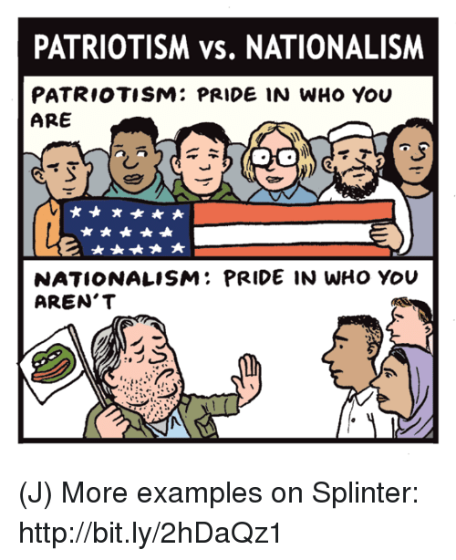 patriotism and national pride essay Patriotism is the ideology of attachment to a homelandthis attachment can be a combination of many different features relating to one's own homeland, including ethnic, cultural, political or historical aspects.