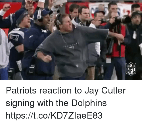 Jay, Patriotic, and Tom Brady: Patriots reaction to Jay Cutler signing with the Dolphins https://t.co/KD7ZIaeE83