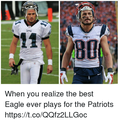 Patriotic, Tom Brady, and Best: PATRPTS When you realize the best Eagle ever plays for the Patriots https://t.co/QQfz2LLGoc