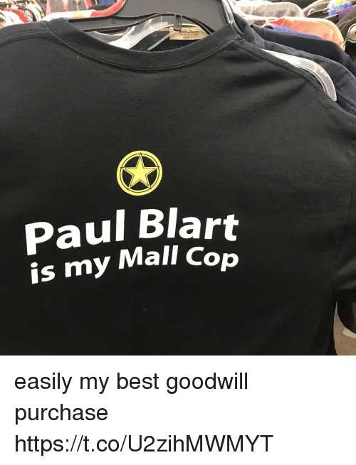 Funny, Best, and Goodwill: Paul Blart  is my Mall Cop easily my best goodwill purchase https://t.co/U2zihMWMYT