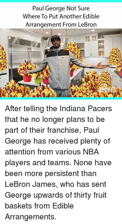 Paul George Not Sure Where To Put Another Edible Arrangement