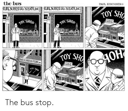PAUL KIRCHNER the Bus INC TOYS TINY TOWN BOS SHOp BARC
