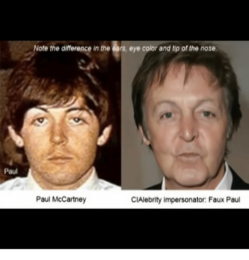 Memes Paul McCartney And Note The Difference In Ears