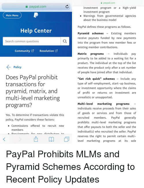 High yield investment program paypal uk investment in west bengal 2021 ram
