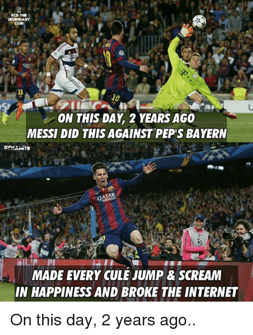Pcd The 10 On This Day 2 Years Ago Messi Did This Against Peps