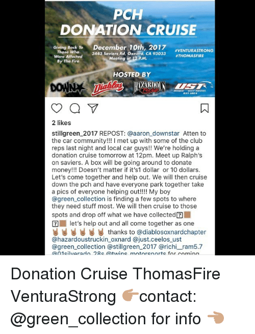 PCH DONATION CRUISE December 10th 2017 3443 Saviers Rd