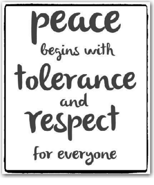 Image result for tolerance and respect