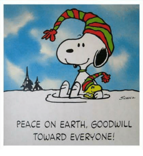 Image result for peace and goodwill on earth