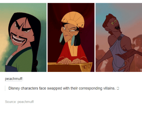 Funniest Meme Characters : Peachmuff disney characters face swapped with their