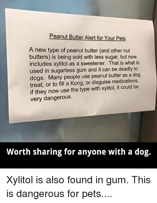 Peanut Butter Alert for Your Pets a New Type of Peanut Butter and