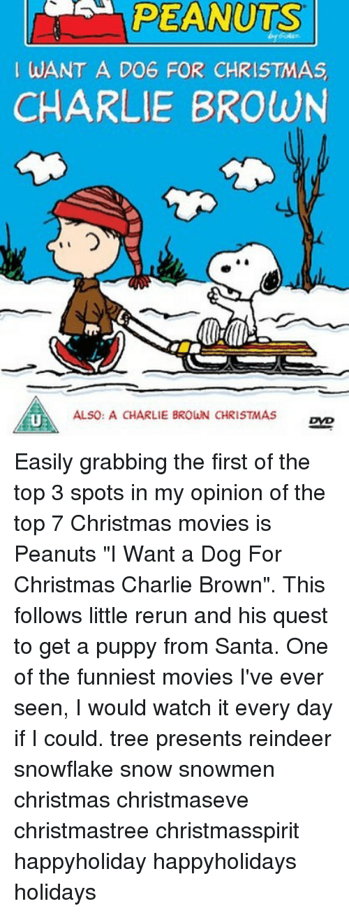 Watch Charlie Brown Christmas.Peanuts Want A Do6 For Christmas Charlie Brown Also A