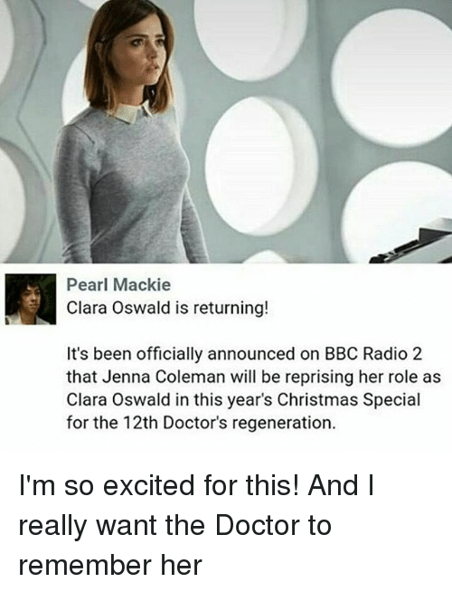 Image result for clara oswald i'm the doctor