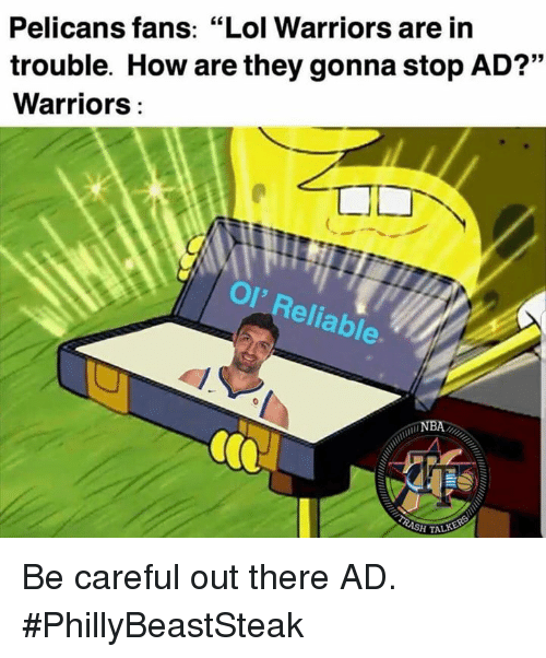 Pelicans Fans Lol Warriors Are in Trouble How Are They Gonna Stop AD