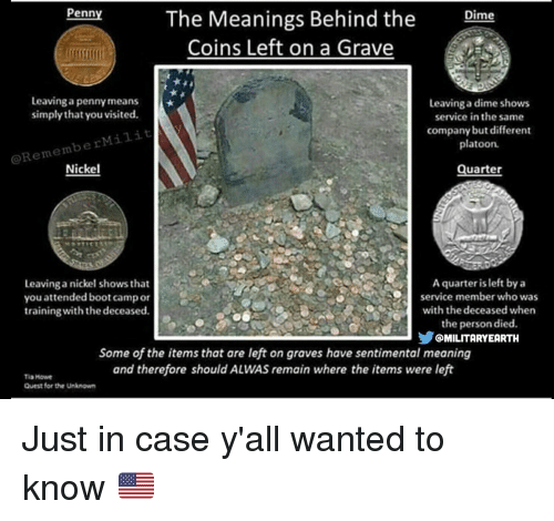 Memes Quest And  F0 9f A4 96 Penn The Meanings Behind The Dime Coins Left On