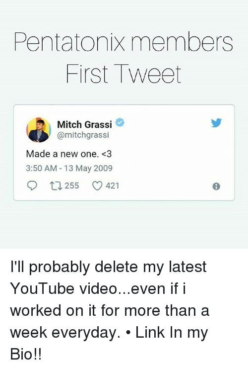 Pentatonix Members First Tweet Mitch Grassi Made a New One <3 350 AM
