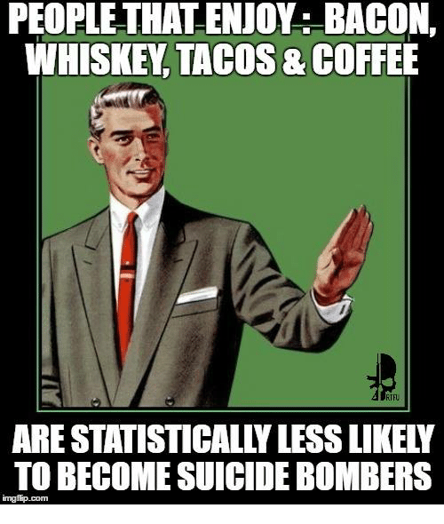 PEOFLETHAT ENJOYS BACON WHISKEY TACOS &COFFEE TO BECOME ...